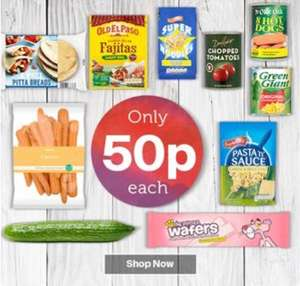 100s of 50p Products at Iceland