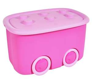 HOME Wheeled Storage Box - Pink for £7.49 @ Argos (free Cu0026C)  sc 1 st  HotUKDeals & HOME Wheeled Storage Box - Pink for £7.49 @ Argos (free Cu0026C ...