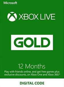 Xbox Live Gold 12 Month Subscription £21.80 (VPN activation) @ Gamesdeal