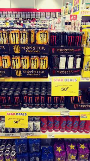 Monster energy drink cans 50p @ Poundstretcher