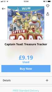 "Captain toad treasure tracker preowned (Wii u) £9.19/ Donkey Kong country ""New"" (Wii u) £10.39 @ musicMagpie"