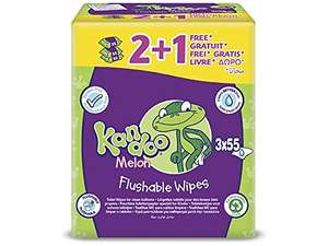 Kandoo flushable toilet wipes - 3 packs/165 wipes for £2.09 down from £4.19 @ Amazon [add-on item or Subscribe and Save] [only for Prime] or Ocado
