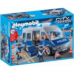 Playmobil 9236 City Action Policemen with Van with Flashing Lights & Sound save 50% £19.99 @ The Entertainer