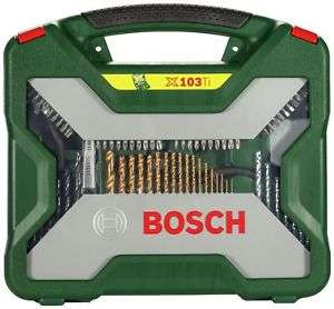Bosch 103 Piece Titanium Drill Bit Accessory Set £11.99 at Argos/ebay