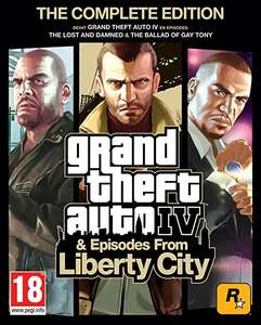 Grand Theft Auto IV: Complete Edition (Steam (PC) Code) (ENDS MIDNIGHT!) £9 @ Amazon.co.uk