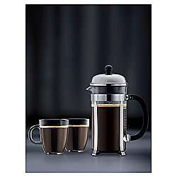 Bodum Stainless Steel Chambord 8 cup and 2 Bistro Mug Set half price £20 Tesco Direct free C&C