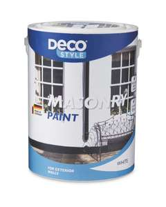 Deco, Masonry Paint Cream or White 5L Available in store from sunday - £6.49 @ ALDI