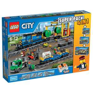 LEGO City 66493 Remote Control Cargo Train, Station, Tracks and Power Functions 4 in 1 Super Pack - £140 @ John Lewis