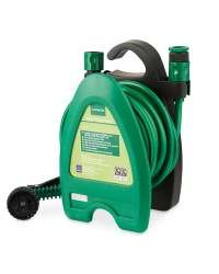 Gardenline Mini Hose Reel with 10m hose and accessories Available In Store from Sunday £8.99, or pre order now + £2.95 Delivery,  - Aldi