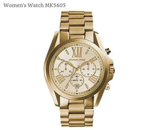 Michael Kors Womans watch MK5605 £95 @ JB watches plus sale upto 60% off MK watches