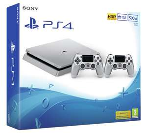 PS4 Slim console 500GB Silver x 2 Controllers - £249.99 @ Argos