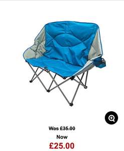 Folding camping sofa from Ozark Trail. Was £35 went down to £25 online but found it in store for £15 @ ASDA