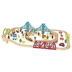 Carousel Build A World Wooden Train Set £15 at Tesco Direct with free click and collect.