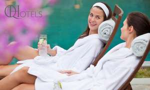 4 Star Spa Day with Free Towel Hire & Hot Drink and Pastry for Two - available at 11 locations from £15 // £7.50p.p  (get an extra 15% off w/code) at Q Hotels via Groupon
