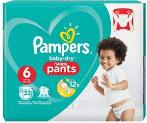 Pampers Baby Dry Pants Size 6 Essential Pack 32 Nappies £4 @ Tesco
