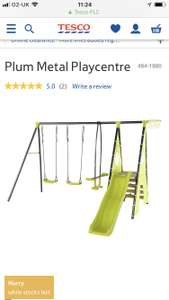 Plum Metal Playcentre £170 + £3 delivery at Tesco
