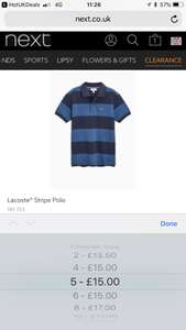 Kids Lacoste® Stripe Polo (£13.50 to £20.00) @ Next