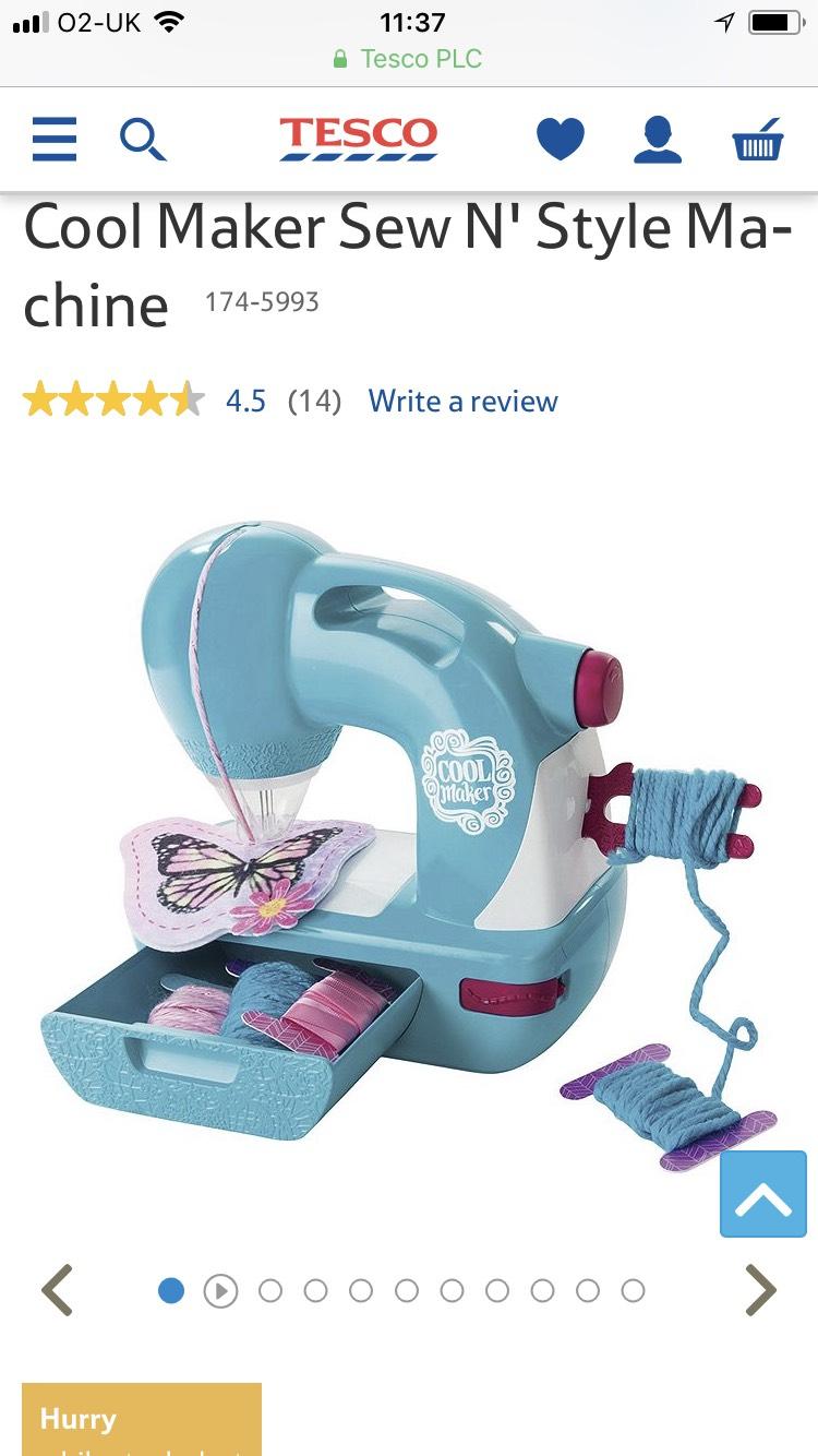 Cool Maker Sew N' Style Machine - £18 @ Tesco Direct