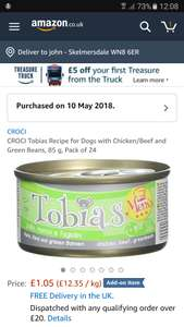 Croci to bias chicken/beef and green beans 24x85g - £1.05 (Add on item) @ Amazon