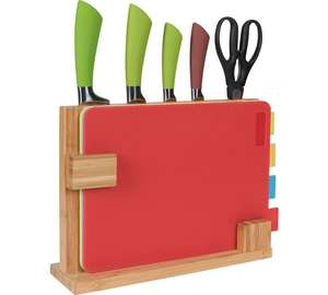 HOME 10 Piece Chopping Board and Knife Set now £14.99 @ Argos (free C&C)