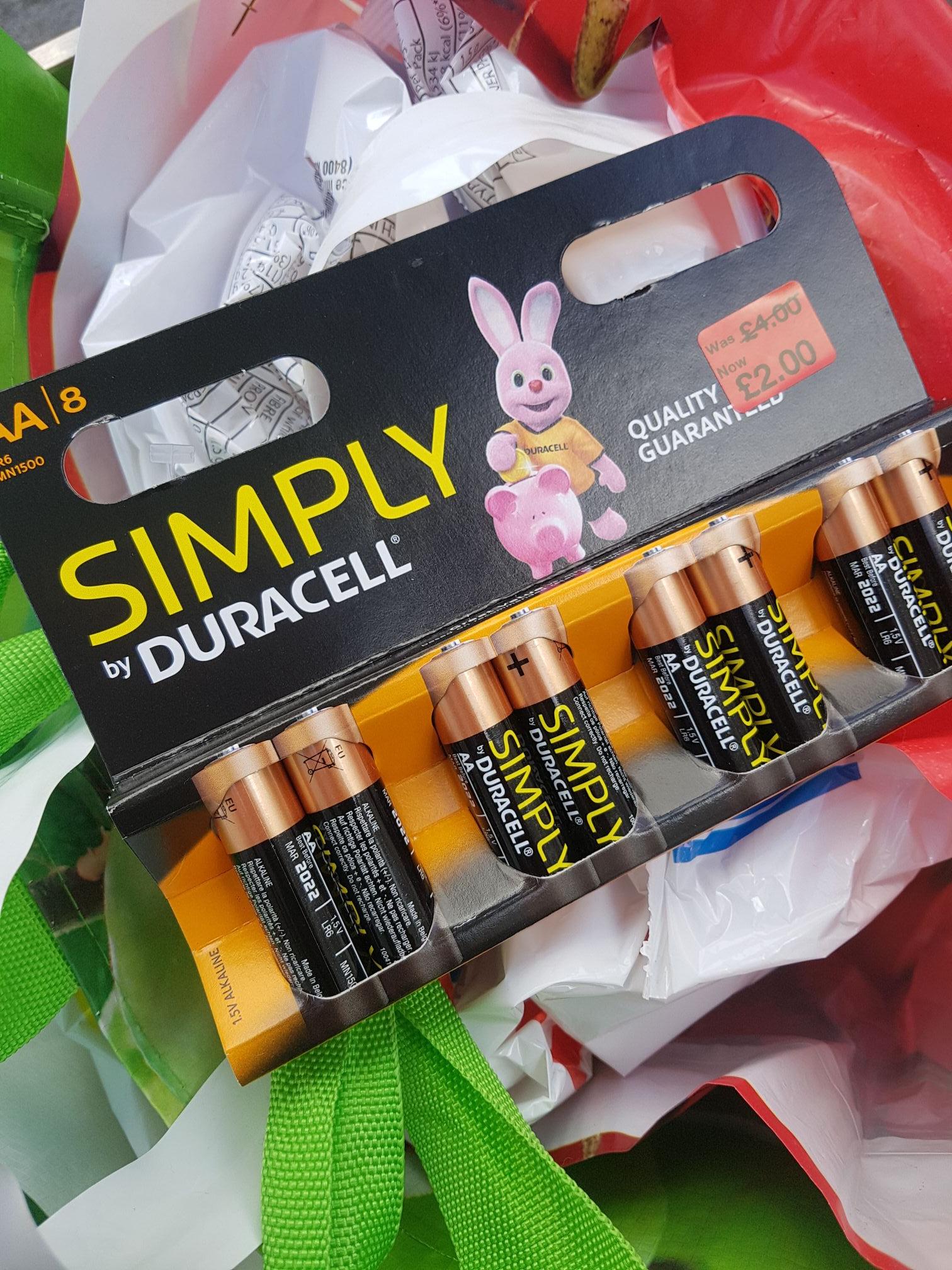 8 AA duracell batteries - £2 instore @ Primark (Liverpool)