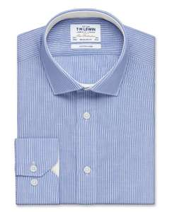 Cotton Linen Regular Fit Navy Stripe Shirt – Button Cuff at TM Lewin for £24.95 (free C&C) or £20 when buying 4 or more