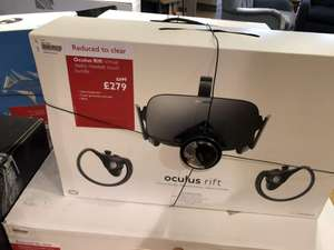 Oculus Rift (with touch controllers) £279 @ John Lewis (in store) (perhaps local only in Norwich)