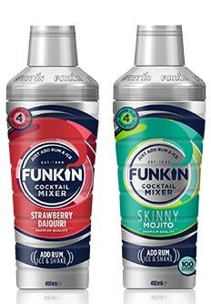 Funkin Strawberry Daiquiri Mixer 400Ml and Skinny Mojito 400ml £1 in Heron