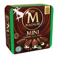 Magnum mini classic and mint chocolate ice cream in Heron for £1.25