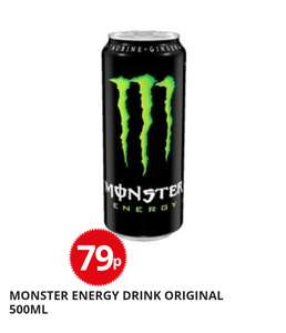 Monster 500ml cans 79p/ Rossi 79p poundstretcher