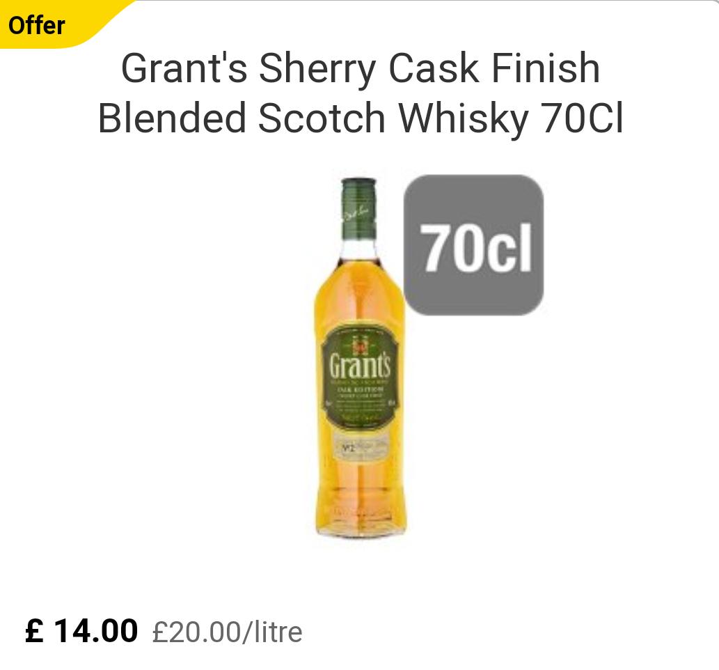 Grants Sherry Cask Whisky £14 @ Tesco