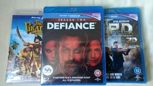 Defiance - Season 2, RIPD (3D) The Pirates (3D) - Blu Ray - £1 @Poundland