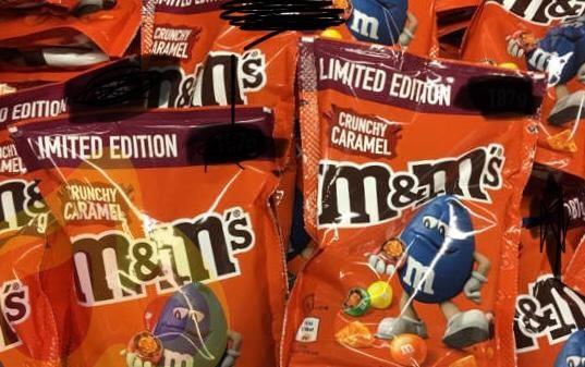 Limited edition crunchy caramel m&m's £1 in poundland