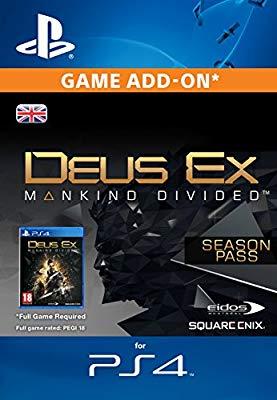 Deus Ex Mankind Divided Season Pass ps4 [PS4 PSN Code - UK account]  £2.99 @ Amazon