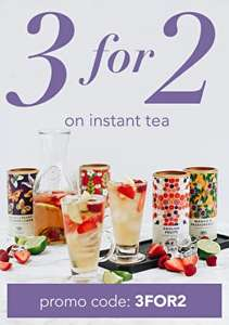 3 for 2 on All Instant Tea with Code @ Whittards