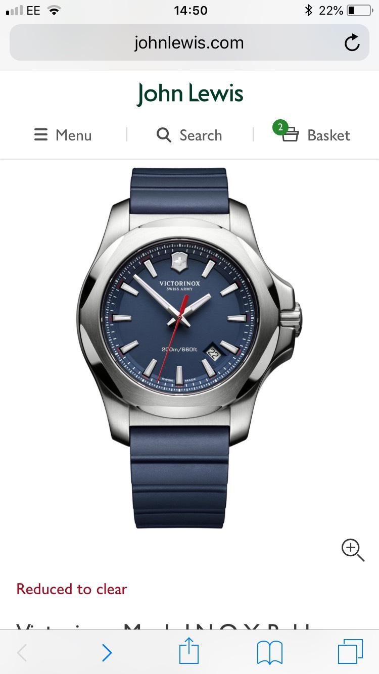 Victorinox Inox Men's watch £199.50 John Lewis