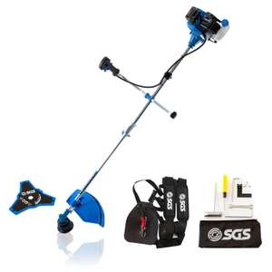 52cc 2in1 Petrol Grass Strimmer / Brush Cutter / Trimmer - 2.2KW 3HP. now only £69.98 @ SGS engineering