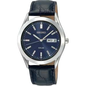 Seiko Gents Solar Leather Strap Watch (SNE049P9 - RRP £149)  Rubicon Watches £56.99
