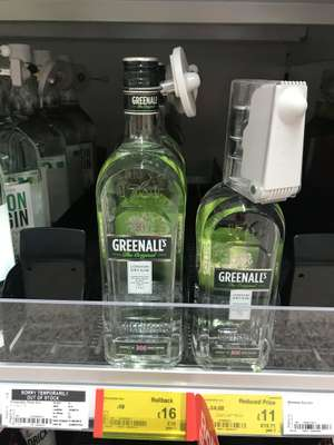 Greenalls The Original London Dry Gin £16 Litre & £11 for 70cl at Asda