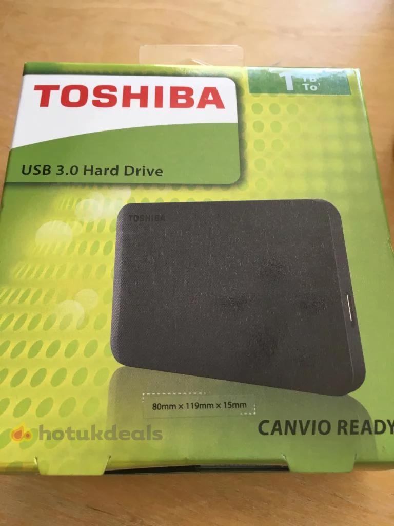 Toshiba usb 3.0 1TB hard drive Canvio Ready £14 instore at Asda