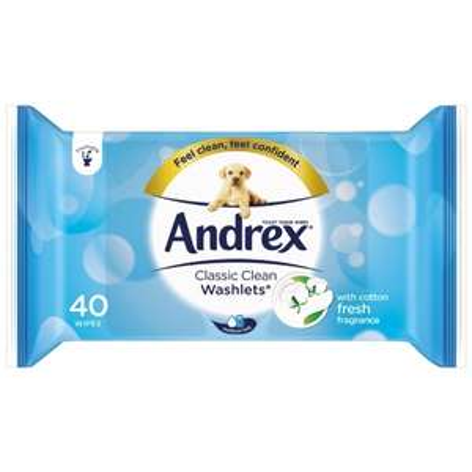 Andrex Washlets Quad pack £3.49 @ B&M