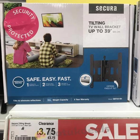 """Secura TV Bracket upto 39"""" £3.75 @ Asda instore - Walsall"""