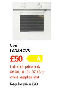 Ikea oven £50! + 10% family card discount £45. Lakeside store (instore)