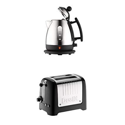 Dualit 72200 Jug Kettle, 1 Liter, Stainless Steel and Black Finish & Dualit 2-Slot Lite Toaster, Black Gloss £52.99 @ Amazon