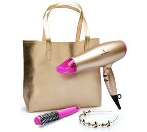 Lee Stafford Your Time To Shine Hairdryer Kit - 2200w Hairdryer, tote bag, headband, thermal Brush was £39.99 now £19.99 @ Argos -