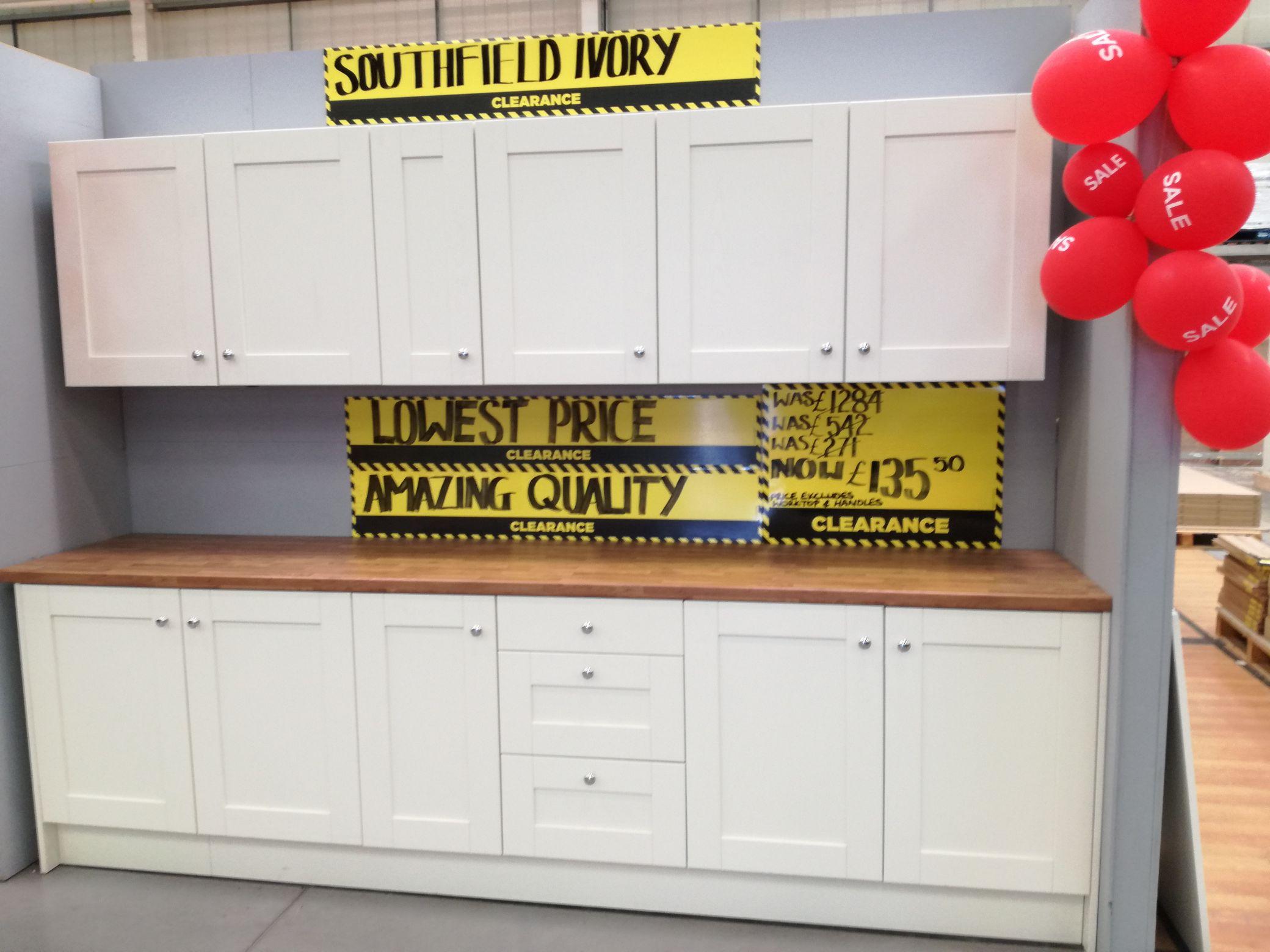 Kitchen units reduced to £135 instore @ Homebase (Cheltenham)