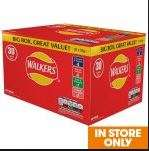 Walkers Crisps Variety 30 Box – £3 – (10p per 25g bag) – MORRISONS Instore Only