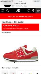 New balance trainers ( up to size5.5) - £20 @ JD Sports