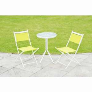 Barcelona Bistro Set 3pc - Lime, Blue or Pink £20 @ B&M