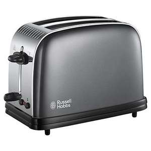 Russell Hobbs Colours Toaster Grey £18 Tesco Direct free c and c